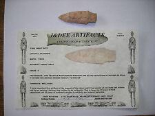 Archaic Period Missouri Heavy Duty Fossil Chert Arrowhead COA 9000 BP- 6000 BP