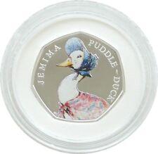 2016 Beatrix Potter Jemima Puddle-Duck 50p Cinquante Pence Silver Proof Coin Box COA