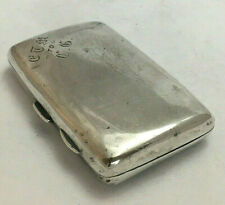 Antique Victorian Sterling Silver Ladies Cigarette Case 1895