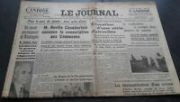 """ The Journal "" Edition Of 5 Heures Antique N°16990 Jeudi 27 April 1939 ABE"