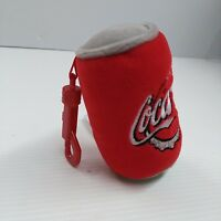 Coca-Cola Plush Can Keychain - FREE SHIPPING