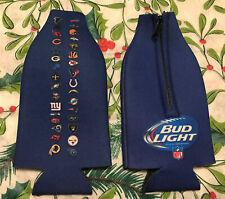 Lot 2 Bud Light Nfl Football Teams Logo Zip Beer Bottle Koozies Coozies New �