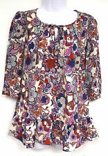 Liberty of London Target Jumper Print Top Size XS Blue Red White NEW