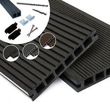 Premium WPC Terrassendielen Komplettbausatz 3m-5m, 3 Farben, 6-90m²  Holz Diele