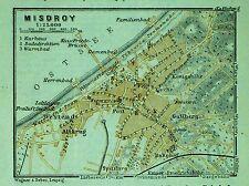 MISDROY (Międzyzdroje), alter farbiger Stadtplan, gedruckt 1914