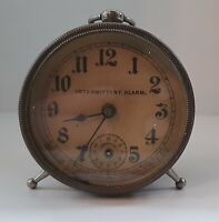 Vintage 1904 New Haven Clock Co Intermittent Alarm Made In USA Repair Or Parts
