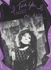 Cleo Laine  I Told You So   US Sheet Music
