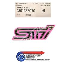 GENUINE SUBARU PINK & CHROME FRONT GRILLE BADGE EMBLEM FOR IMPREZA WRX STi