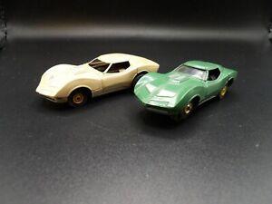 AURORA AFX 2 TJETS THUNDERJETS MAKO SHARK #1380 TAN & OLIVE HO SLOT CARS