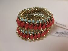 Nordstrom Missing Piece Fabric & Metal Stretch Bracelet NWT $28.00