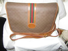 #vintageGUCCI XLNT SIGNATURE VINTAGE BROWN GUCCI PURSE BAG handbag tote