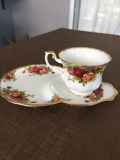 "Vintage Royal Albert Tennis Set. ""Old Country Roses"""