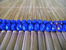 Perle Mezzi Cristalli Blu Cristallo Palline Sfaccettate Cipollotti Bijoux 6x4mm