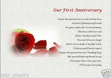 OUR 1ST ANNIVERSARY GIFT- ( laminated gift) personalised  wedding anniversary