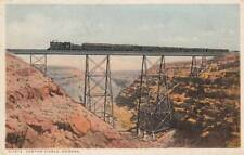 Antique POSTCARD c1928 Railroad Bridge Canyon Diablo ARIZONA AZ 13813