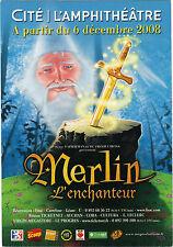 Publicité - cpm - Spectacle : MERLIN L'ENCHANTEUR