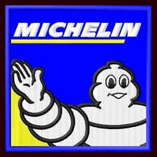"""MICHELIN EMBROIDERED PATCH ~2-3/4"""" x 2-3/4"""" TIRES BIBENDUM MOTORCYCLE RACING #4"""
