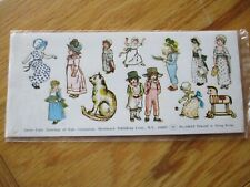 KATE GREENAWAY Seals-Stickers 3 Sheets