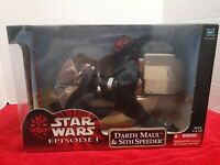 "Star Wars - 12"" Darth Maul & Sith Speeder 1/6 Phantom Menace - NIB episode I"