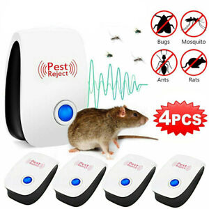 4X Ultrasonic Electronic Pest Mouse Cockroach Repeller Reject Insect Killer