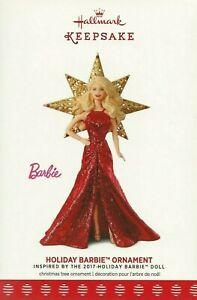 Hallmark Keepsake 2017 Holiday Barbie 3rd in The Series Christmas Ornament NEW