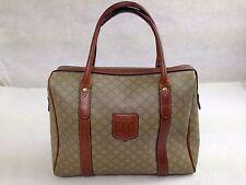 Auth CELINE MACADAM Mini Boston Bag 5E1310022#