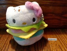 Hello Sanrio Plush Burger Charms Kidrobot Hello Kitty 2/12