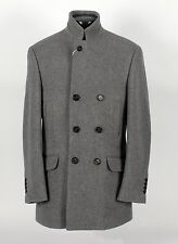 $4195 NWT - BRUNELLO CUCINELLI Double Breasted WOOL Coat Jacket - Gray 50 M / L
