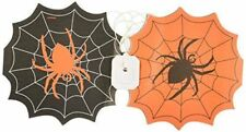 Halloween Paper Garland Banner Spider Themed 2.4m Orange and Black