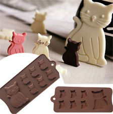 7 Cavity 3D Cute Cat Kitten Silicone Mold Sugar Fondant Chocolate Baking Molds