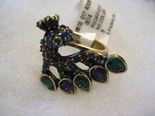 """HEIDI DAUS """"A Fabulous Peacock"""" Size 8 Ring (Orig.$69.95)"""