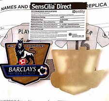 2014-15 Chelsea EPL CHAMPIONS Football SportingiD REPLICA SIZE Badge Patch Set