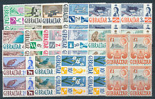 GIBRALTAR 1960 DEFINITIVES SG160/173 BLOCKS OF 4 MNH