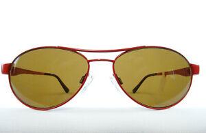 Rote Sonnenbrille MORE&MORE Pilotform braue Gläser für das schmale Gesicht Gr.M