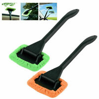 2X MicroFiber Windshield Clean Shine Car Auto Wiper Cleaner Glass Window Brush