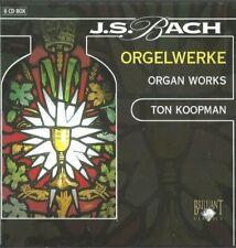 Bach Organ Works Orgelwerke TON KOOPMAN 6 CD SET BRILLIANT CLASSICS IMPORT NICE