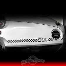 Adesivo FIAT 500 SCACCHIERA sticker effetto CARBON LOOK 3D plancia cruscotto 12