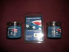 Lot of American Home by Yankee Candle Freedom's Flag Wax Melts & Candles New