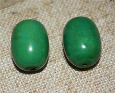 natural tibetan real old green turquoise bracelet pendant beads blue amulet