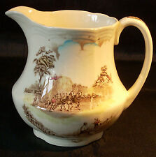 """ALFRED MEAKIN MILK PITCHER """"THE RIDE HOME"""" - 6 INS TALL"""