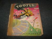 """VINTAGE LITTLE GOLDEN BOOK TOOTLE 1947 """"?"""" PRINTING EDITION"""