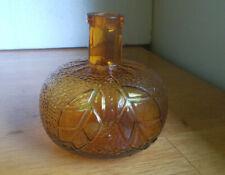 New ListingP.Bardinet Bordeaux Emb Leaves Hand Blown Orange Figural French Liquor Bottle