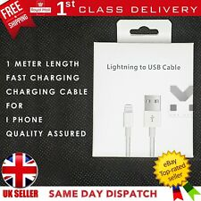 IPhone 5 6 7 8 XR XS MAX Charger Apple cable Lightning USB 1m lead FAST CHARGING