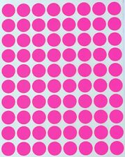 Neon Pink Dot Stickers In Various Sizes 8mm 38mm Color Label In 15 Sheets