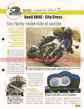 BUELL XB9S City Cross XB 9 S 2007 Joe Bar Team Fiche Moto #001160