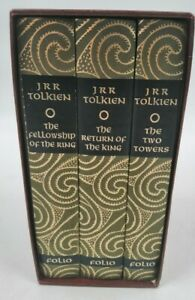THE LORD OF THE RINGS TRILOGY JRR TOLKIEN FOLlO SOCIETY 1997 HARD BACK BOOKS  A0