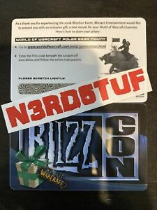 BLIZZCON 2008 08 World Of Warcraft POLAR BEAR LOOT CARD Big Blizzard Bear MOUNT