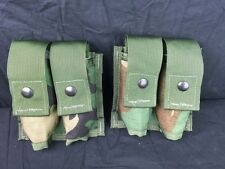 LOT OF 2 NEW - MILITARY MOLLE II 40 PYROTECHNIC POUCH (DOUBLE) WOODLAND CAMO