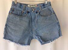 Vintage High Waist Levi Levi's Levi's Denim Shorts Stone Wash Blue Retro Size 8