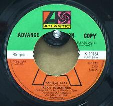"JACKIE DeSHANNON-Vanilla O'lay-PROMO-7"" Vinyl 45rpm Record-Atlantic-K 10184-1972"